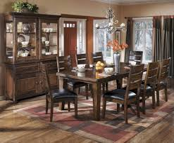 cool inspiration ashley dining room table and chairs best furniture mentor oh dealer d442 larchmont extension set tables wood