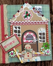 Premade Gingerbread Houses Gingerbread House Large Premade Scrapbook Album Tphh Scrap Couture