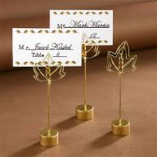 fall wedding place card holders. gold leaf wedding table place holders | fall themed card n