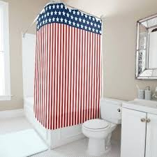 red and blue shower curtains patriotic stars stripes white curtain plaid
