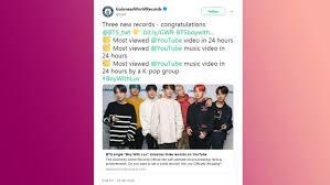 Billboard Music Video Chart Bts Band Break Uk Album And Billboard Hot 100 Chart Records