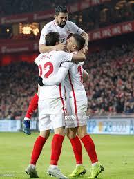 Franco Vazquez of Sevilla FC, Nolito of Sevilla FC, Andre Silva of... Foto  di attualità - Getty Images