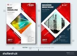 red book cover design corporate business template for brochure report catalog magazine
