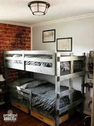 vintage industrial bedroom furniture. Teen Room Gets Vintage Industrial Makeover With Faux Brick Wallpaper Metal In Bedroom Furniture