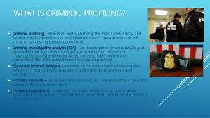 criminal profiling what is criminal profiling