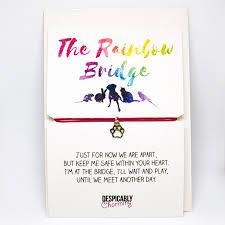 sympathy card pet rainbow bridge pet sympathy bracelet despicably charming