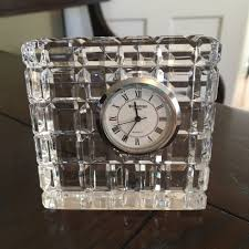 admirable waterford clocks for your house decor waterford crystal ireland square desk clock brand