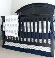 elephant crib bedding navy and grey baby blue chevron set babies r us