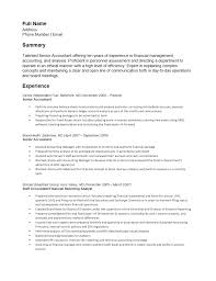 Resume Example For Accounting Position Free Senior Accounting Resume Template Sample MS Word 59