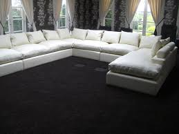 U Shaped Couch Living Room Furniture U Shaped Sofa Living Roombrown Living Room With U Shaped Sofa In