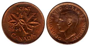 Coins And Canada 1 Cent 1944 Canadian Coins Price Guide