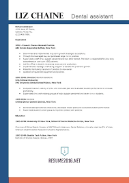 Resume Examples For Dental Assistant Socialum Co