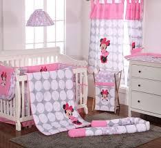 disney baby minnie mouse polka dots crib bedding set
