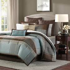 madison park lincoln square blue brown bed sets the home decorating company