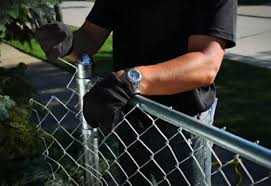 chain link fence installation. Perfect Chain Tighten The Mesh  Install Chain Link Fence And Installation