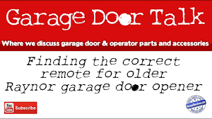 finding a remote for your older raynor garage door opener