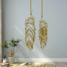 feather wall art feathers wall decals tribal wall art bohemian wall decor living room bedroom dorm