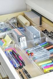 desk drawer organizer home office organization ideas
