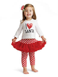 Pie I Love Santa Baby Christmas Tutu Outfit With Leggings