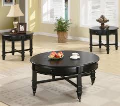 traditional black coffee table