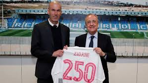Real Madrid - La Liga: Florentino Perez congratulates Zidane on his 250th  game in charge of Real Madrid
