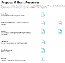 proposal grant resources phoenix g station alerting