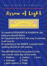 in light of this meaning i made this printable for our arrow of light ceremony arrow