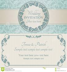 Baroque Wedding Invitations Baroque Wedding Invitation Blue And Beige Stock Vector