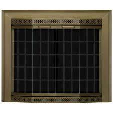 grandior bay large glass fireplace doors