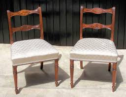 6 antique regency dining chairs
