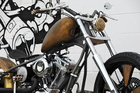 69 brass balls chopper with brass patina look by darwin