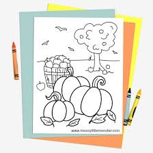 Our autumn and fall coloring pages, sheets and pictures may be used only for your personal. Free Printable Autumn Colouring Page Messy Little Monster