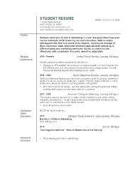 Resume Objective Marketing Summer Internship Resume Objective ...