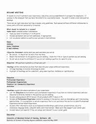 Resume Sample Objective Employer Sample Objective for Resume Unique Resume Goals and Objectives 27