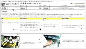Work Instructions Examples Work Instruction Template Free Sample Sheet Example Related