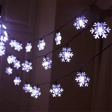 Snowflake Solar Christmas Lights Amazon Com Amars Garden Solar Powered Snowflake String