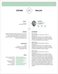 Single Page Resume Template Cool One Page Resume Templates Free Samples Examples Amp Formats Page