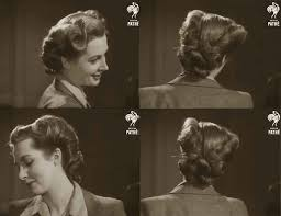 1940s hairstyle american wartime hairdos 1944 d
