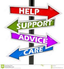 Help Support Advice Care Stock Illustration Illustration Of