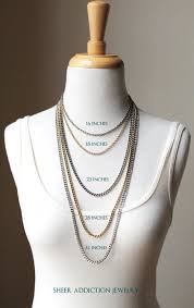 Jewelry Length Chart Necklace Length Chart Know Your Neckline Ordering Online