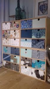 Ladenkastjes Opgepimpt Met Behang Staaltjes En Restjes Papier En