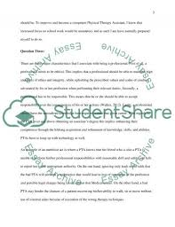 why i want to be physical therapy assistant essay text