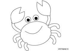 11c4967edffb50ffd57d26dd595694e3 crab coloring page coloring pages crab coloring pages free printable coloring pages simple c on easy crab coutout templates