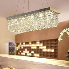 vinic lighting. Vinic Lighting Rectangular Crystal Chandelier Modern Pendant Lights For Dining Room Polished Finish Designs I