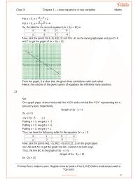 rs aggarwal class 10 solutions chapter 3 linear equations in two variables
