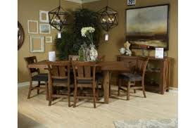 Tamilo 7Piece Rectangular Counter Extension Dining Set in GrayBrown