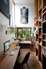 home office design quirky. Wood Home Office Furniture Furnishing Ideas With Glass Windows And High Ceiling Of Eclectic Marrickville House Sydney: Sydney By Design Quirky A