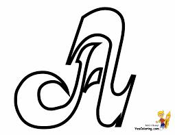 Letter Coloring Page Cursive Alphabet A