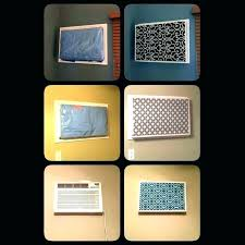 ac covers wall air ner unit cover outside ning decorative fence for prepare 8 conditioner exterior