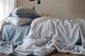 beauteous grey and white striped stonewashed linen duvet cover ticking stripe bedding sets stripe bedding8